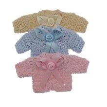 12 шт ручной миниатюрный Вязанный свитер с цветочным принтом