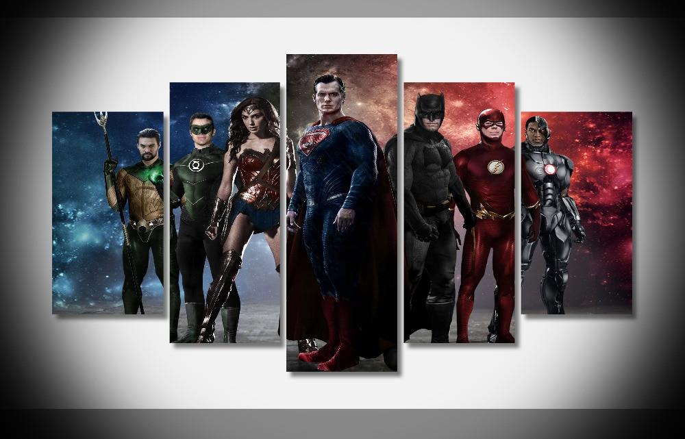 6521 Liga de la justicia el nuevo cartel enmarcado galería WRAP Art ...