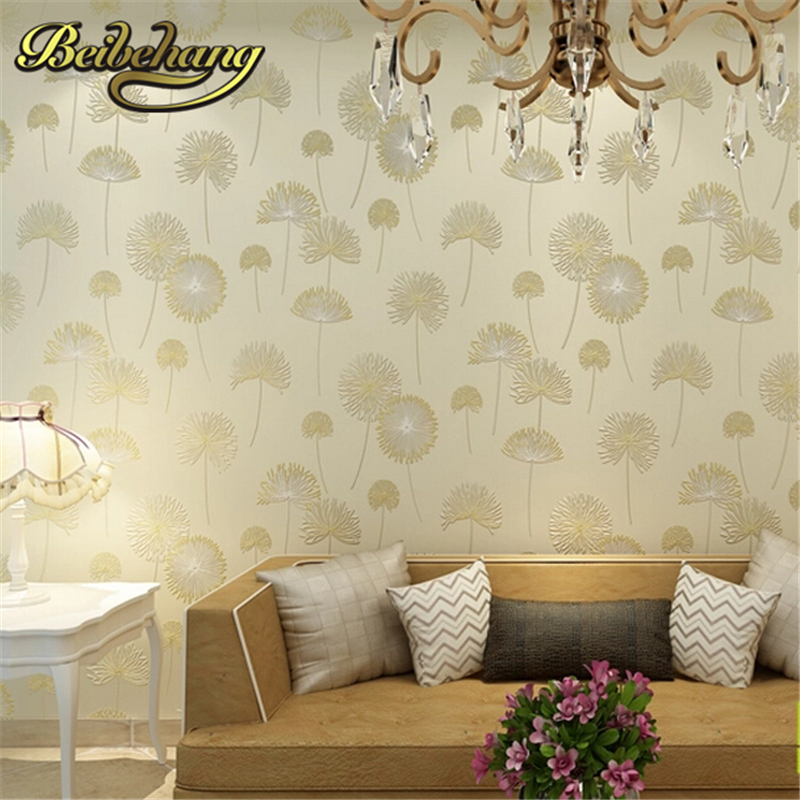 beibehang 3D wallpaper roll embossed texture fashion non-woven floral flower papel de parede listrado for living room background ft 150603 senior imitation straw texture striped wallpaper roll for living room vinyl wall paperpapel parede listrado