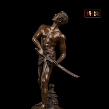 "He was a sculpture of the European style sculpture samurai sword with a knife to the villa home soft outfit ""DS-672"""