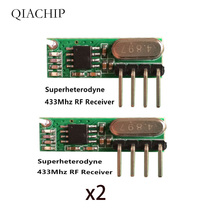 цена на Demo board Rx500a 433 mhz rf Wireless Receiver superheterodyne 433mhz ASK remote control Module Kit small size For Arduino uno