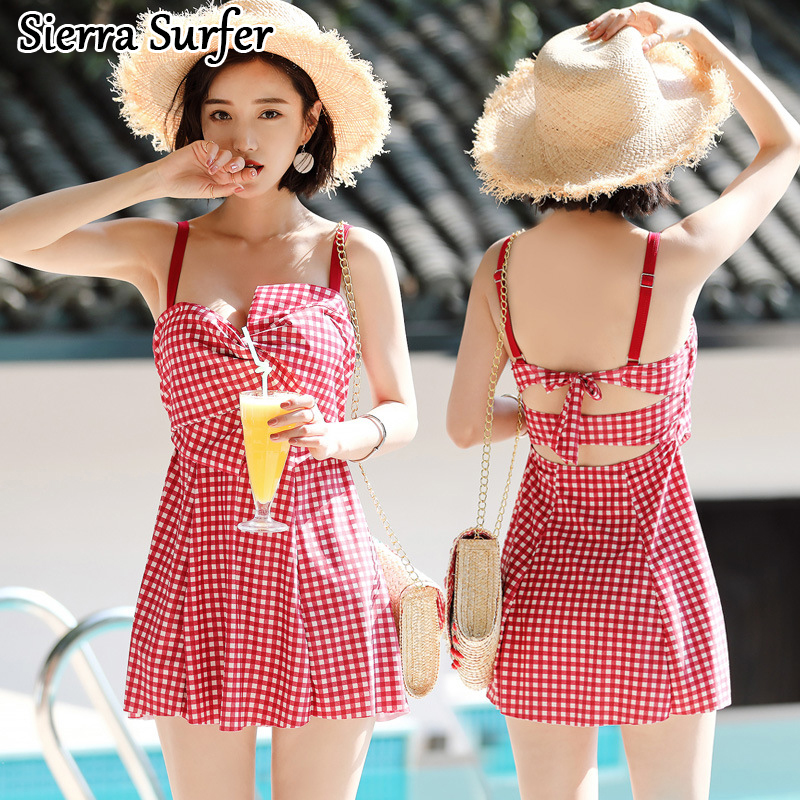 Women One Piece Swimsuits Large Size Women's Sport Suits Swimming Suit Swimwear Ladies Sexy Swim 2018 New Split Skirt Push Up sexy women swimsuits printing one piece swimwear high cut backless sport bathing suits push up monokini hollow trikini bodysuits