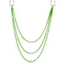 1PCS Long chains Fashion Stainless Steel Non pierced Clip On