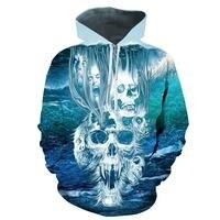 2018 3D Hoodies Men Hoody Sweatshirts Melted Skull 3D Print Fashion Casual Pullovers Streetwear Tops Spring