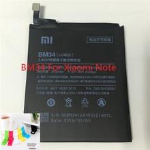 For Xiaomi Note Battery Original 100% BM34 Replacement Mobile Phone Battery For Xiaomi Mi note 5.7 inch Smartphone