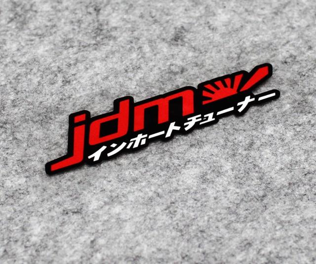 2 piezas de coche pegatinas cinta de vinilo bandera nacional japonés JDM Osaka de carreras de moto etiqueta engomada de parachoques 12x3,2 cm
