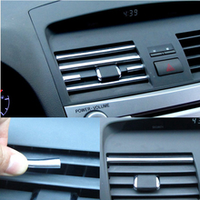 1 meter U Style DIY Car Interior Air Conditioner Outlet Vent Grille Chrome Decoration Strip Silvery car styling Free shipping