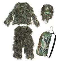 5 pieces New Ghillie Suit Camo Woodland Camouflage Forest Hunting 3D 5 pieces new ghillie suit camo woodland camouflage forest hunting 3d