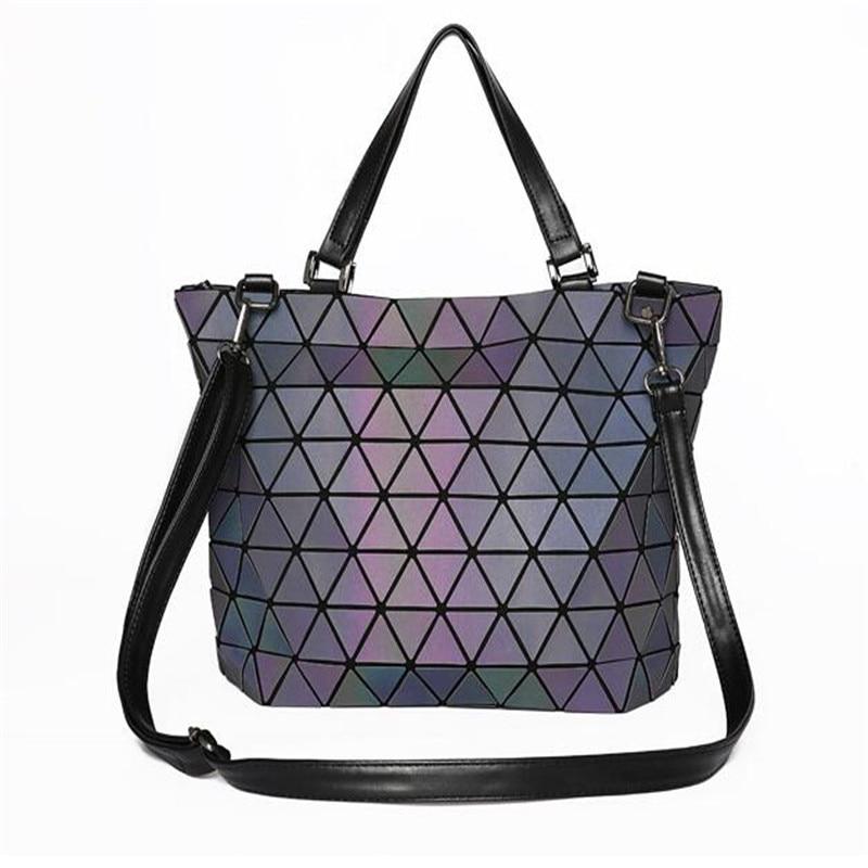 2017 Bao Bao bag Women Luminous sac baobao Bag Diamond Tote Geometry Quilted Shoulder Bags Laser Plain Folding Handbags паяльник bao workers in taiwan pd 372 25mm