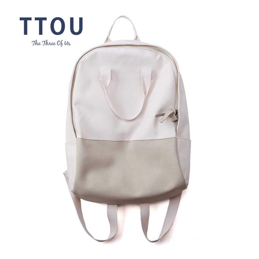 6054ee485703e TTOU Cute Kawaii Backpack Women Canvas Backpacks for Teenage Girls Bag  Vintage Harajuku Backpack Fashion School