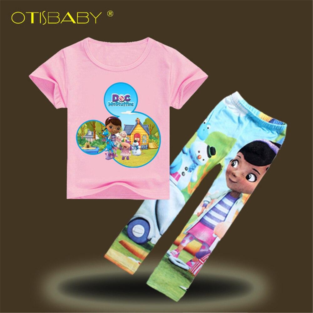 Doc McStuffins хлопок Футболки Леггинсы для женщин для Обувь для девочек шорты с цветочным принтом для Обувь для девочек Дети мультфильм tinycottons ле... ...