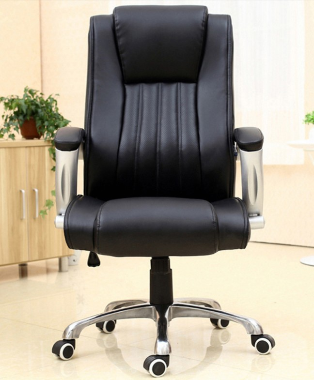 Office Chair Swivel Computer Chair High Back Armchair Fixed Arms Big Executive Chair PU Leather SGS BIFMA tested Gas lift C52 high back big