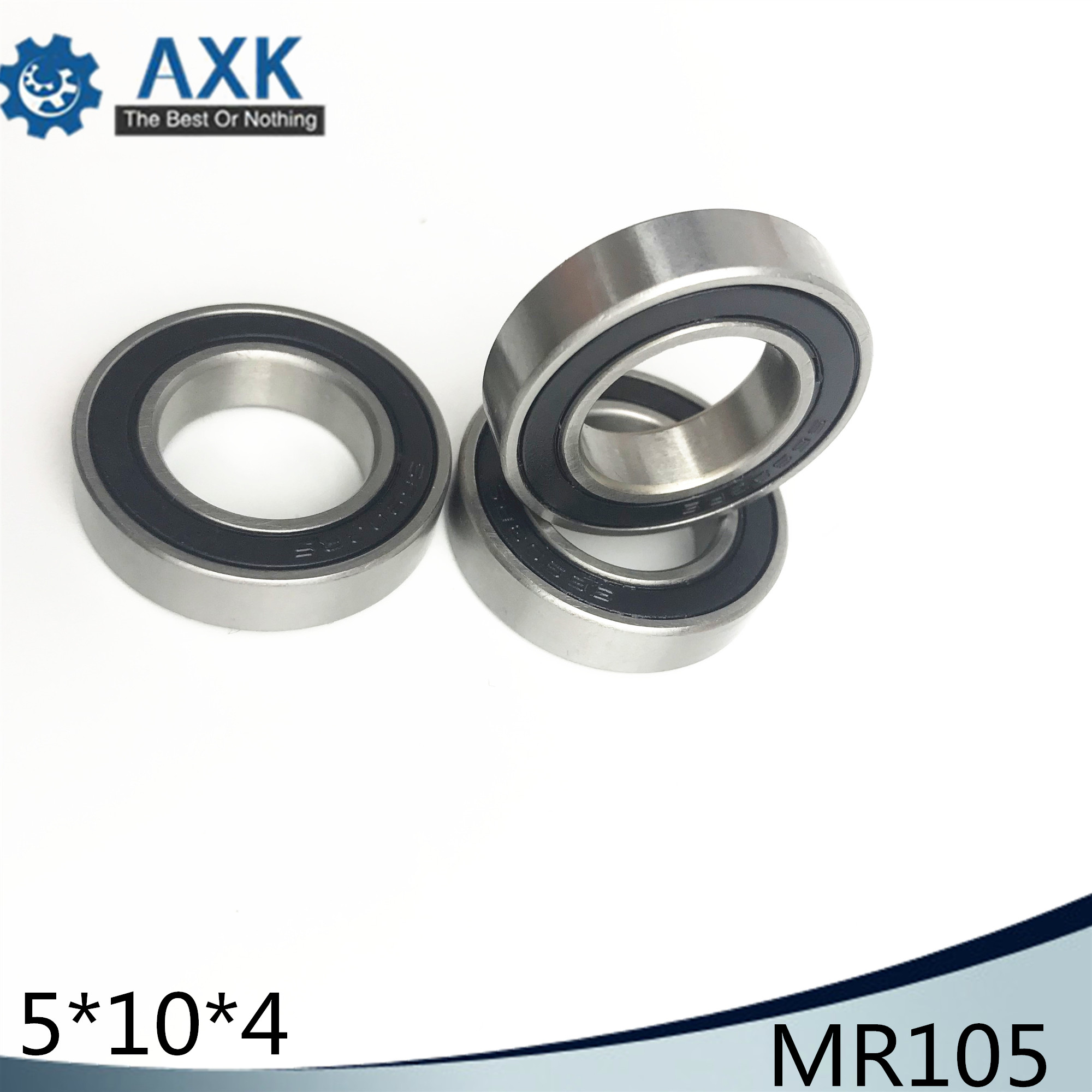MR105 Hybrid Ceramic Bearing <font><b>5*10*4</b></font> mm ABEC-1 ( 1 PC) Industry Motor Spindle MR105HC Hybrids Si3N4 Ball Bearings 3NC MR105RS image