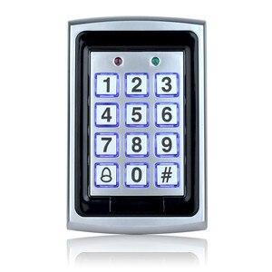 Image 2 - RFID in metallo Tastiera di Controllo di Accesso 125 KHz Controller di Accesso Autonomo con Impermeabile Della Copertura di Caso Della protezione + 10 pcs Portachiavi RFID Carte