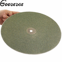 12 Inch 300mm Grit46 Electroplated Diamond Grinding Disc Wheel Coated Flat Lap Disk Lapidary Tools For