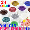 24 Colors Free choice Perfect Polish Gel Long-lasting Soak-off UV nail Glitter Summer Nail Gel Soak off Lacquer
