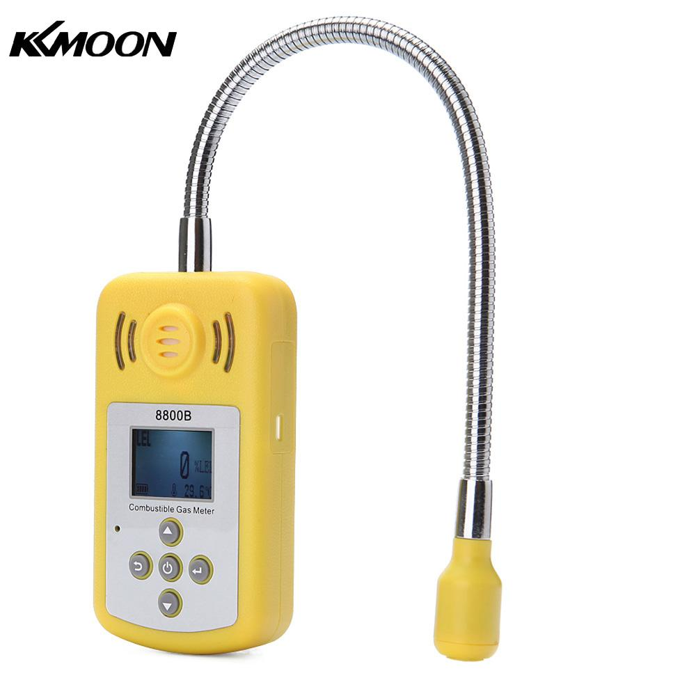 Professional Combustible Gas Detector Portable Gas Leak Location Determine Tester with LCD Display and Sound-light Alarm