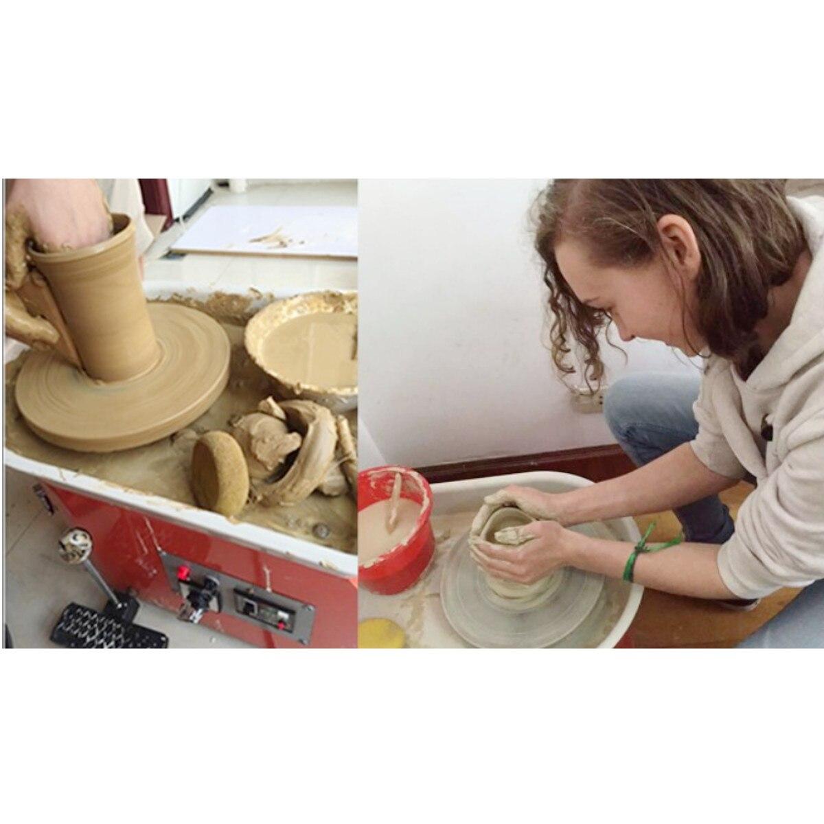 Tournant la Machine en céramique de roue de poterie électrique 110 V 350 W 300mm Kit de potier en céramique d'argile pour la céramique de travail en céramique - 6