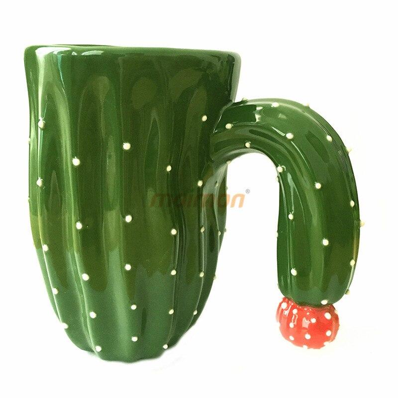 400ML cactus coffee mug creative three-dimensional ceramic cup simulation plant coffee mug selling gift cup cartoon water glass