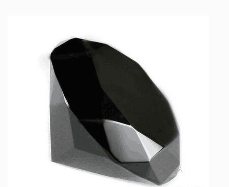 mm de cristal de diamante pisapapeles de cristal de cuarzo negro banquete de boda jarrn decorativo