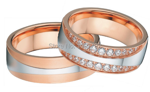 tailor made luxury western bicolor rose gold color silver color