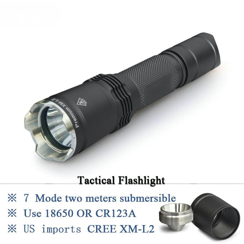 Охота вспышки светильник XM L2 фонарь большой дальности тактический фонарь Точечный светильник 18650 водонепроницаемый самообороны светодиодная вспышка светильник лампе фонарь e