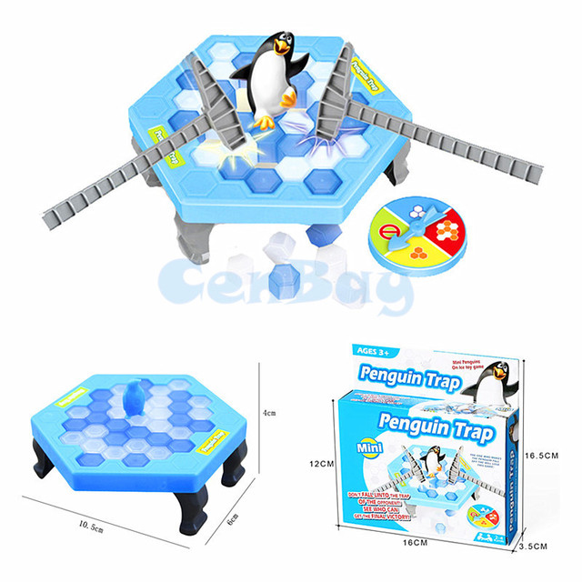 Mini Penguin Trap Interactive Indoor Board Game Ice Breaking Save The Penguin Parent-child Table Entertainment Toys Kids Gifts