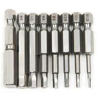 Hohe Qualität 8 stücke 50mm S2 Stahl Innensechskant Kopf Schraubendreher Schraubendreher Kit Handwerkzeuge Magnetische Bohrmaschine Schraubendreher Set Bits
