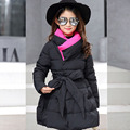 big baby girls coats dress warm clothes cotton padded long jacket kids girl winter 2017 new thick pink purple black children top
