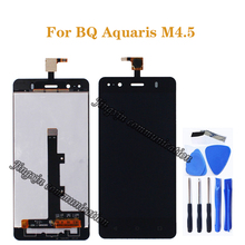 4.5 inch Original For BQ Aquaris M4.5 LCD display + touch screen components replaced with m4.5 glass screen repair parts +tools