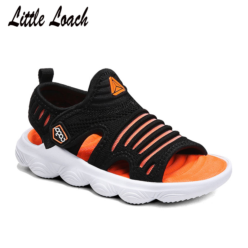New Arrival Kids Fabric Sandals Light-weight Children's Slides Colorful Breathable Summer Shoes Boys Girls Flat Sandals #25-40 breathable women hemp summer flat shoes eu 35 40 new arrival fashion outdoor style light