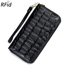Bump Mapping Particle Texture Real Leather Long Wallet Lady Purse Personality Men Women's Wallet Mobile Phone Clutch Bag Holders