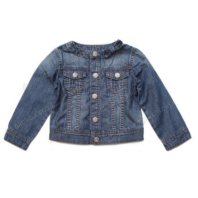 2016 Neutral niños chaqueta de primavera moda Denim manga larga de la muchacha del muchacho Outwear cuerpo abierto los niños de la chaqueta ropa