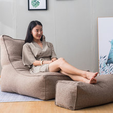 2Pcs/Set Large Bean Bag Combination Sofas Cover Chairs Without Filling Indoor Lazy Lounger for Adults Kids Simple Design(China)
