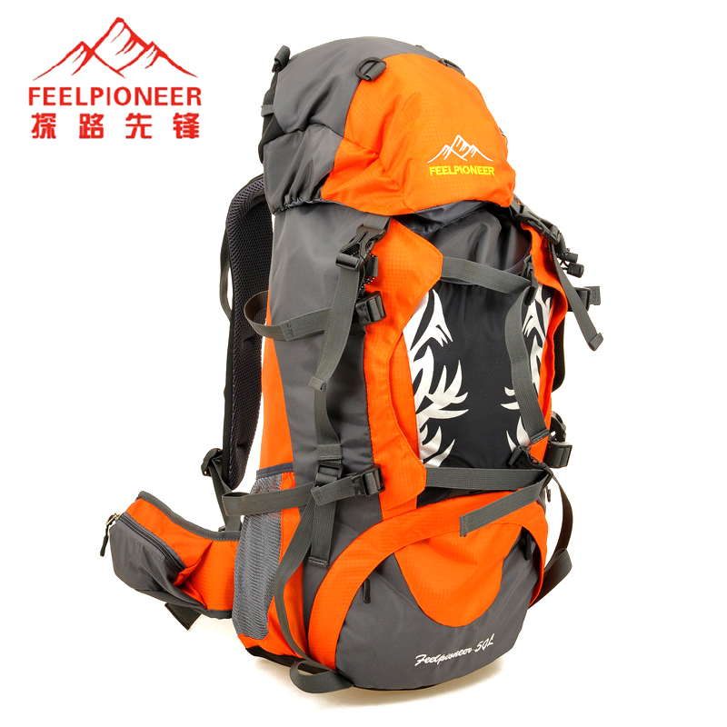 FEEL PIONEER Waterproof Outdoor Tactical School Sport Bag Nylon Men Women's Backpack 50L Camping Equipment With Rain Cover outlife new style professional military tactical multifunction shovel outdoor camping survival folding spade tool equipment