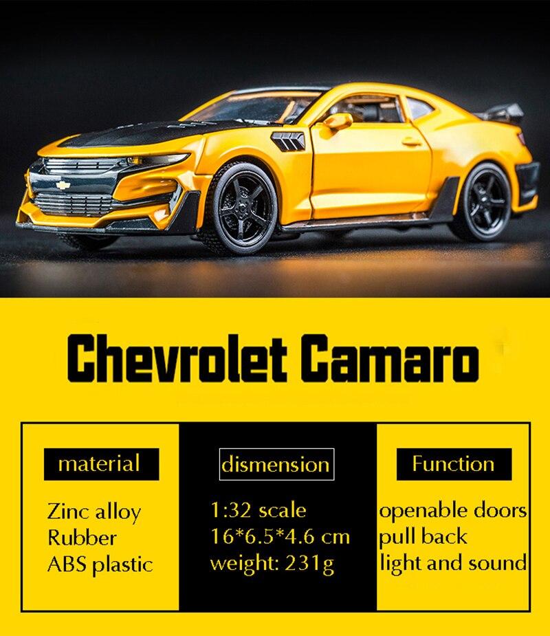 Chevrolet Camaro High Quality Alloy Toy Car 16x6.5x4.6 cm 39