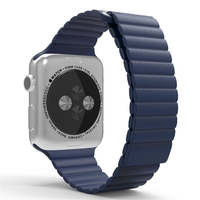 For Apple font b Watch b font Band 42mm Correa Leather Loop Band Premium Soft Adjustable