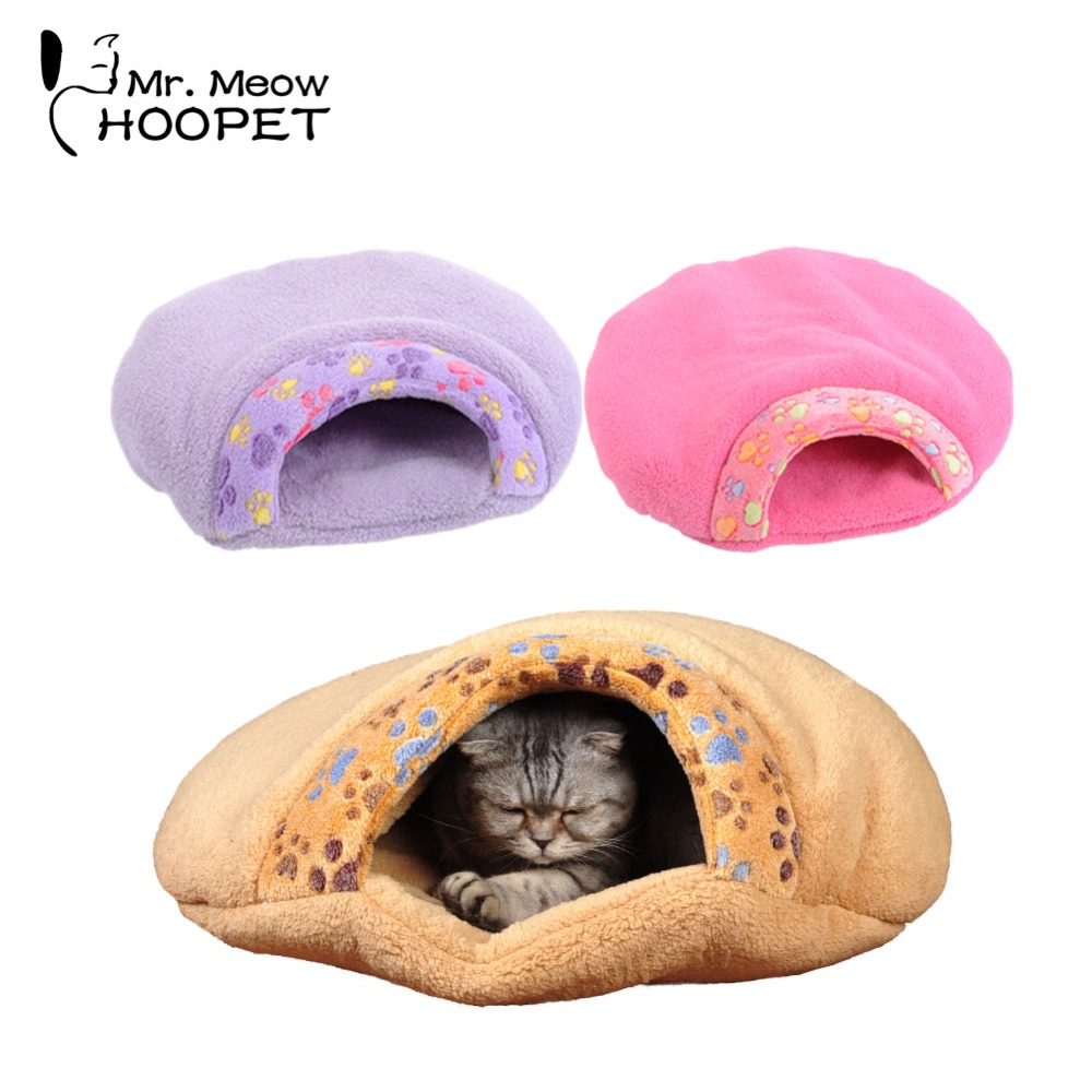Pet Dog Cat All Seasons Self-Warming Soft Sleeping Bag Kitty Cozy Cave Pet Snuggle Sack Bed Cat Kitten Cushion