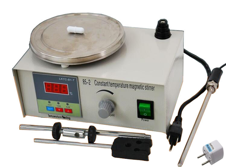 Lab Stirrer mixer Magnetic Stirrer with heating plate hotplate mixer 220V temperature dispaly in Testing Equipment from Tools