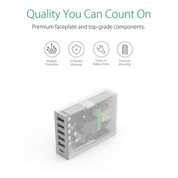 ORICO USB מטען סוג-C QC2.0 מהיר מטען 6 יציאת 5V2. 4A 9V2A 12V1. 5A טלפון נייד מטען