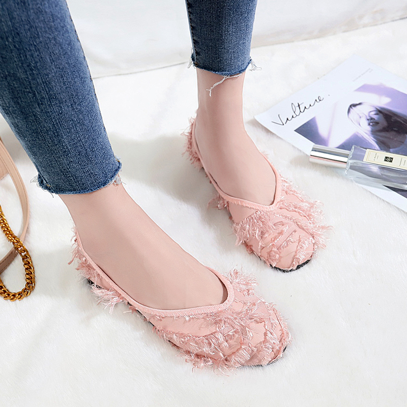 a14c96627ea aliexpress.com - 2018 New Autumn Women Ballet Flats Furry Casual Loafers  Ladies Shallow Slip On Ballerina Single Shoes Soft Work Zapatos Mujer -  imall.com
