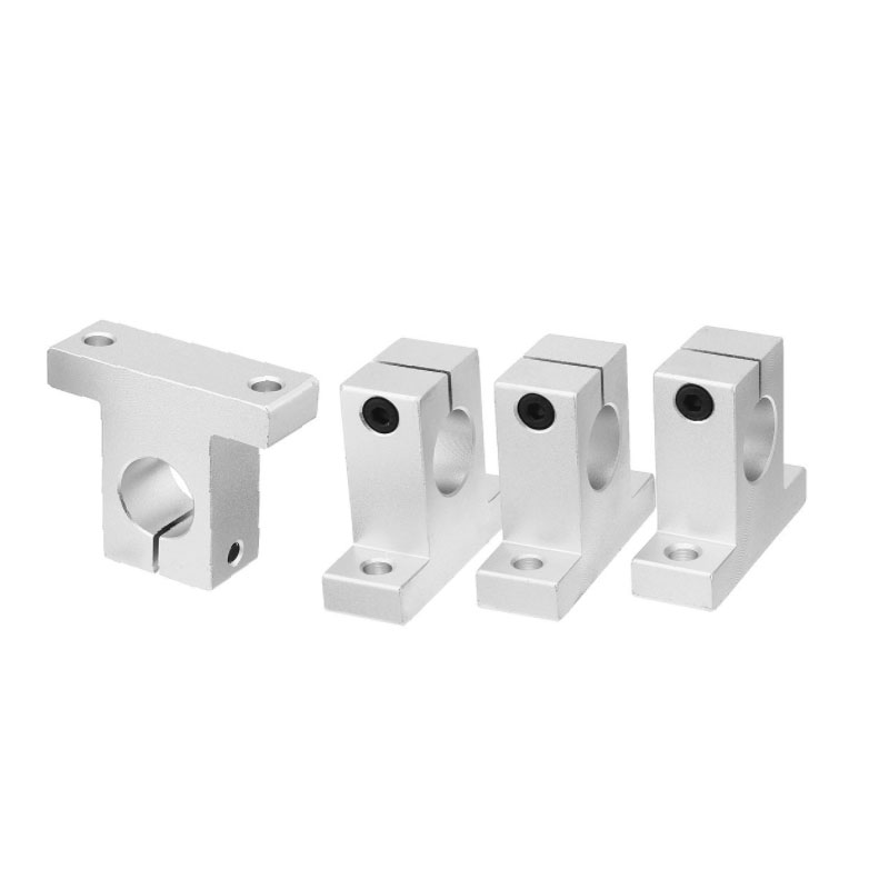 SK8/10/12/13/16/20/25mm aluminum linear motion rail clamping guide support diameter shaft -Pack of 4