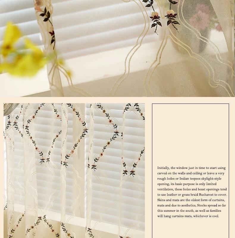 Europeu-estilo villa high-end personalizado blackout cortinas bordadas