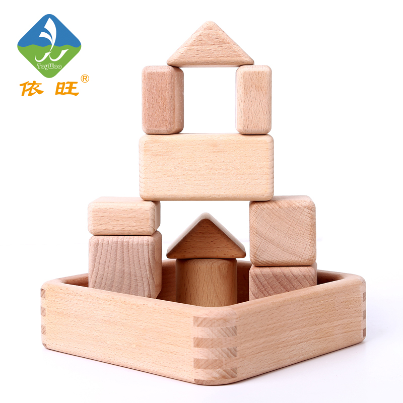 Baby Toys Beech Wood 11Pcs Big  Wooden Building Blocks Birthday Gift Baby Educational Early Learning Toys daily by togas подушка декоративная 40х40