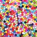 100 unid Bebé 9 MM Suelta Perlas de Silicona Libre de BPA Seguridad Alimentaria grado Perlas Redondas para Bebé Masticar Perlas Arco Iris de Colores DIY collares