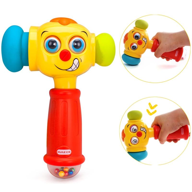 Huile Electric Muziek Geluid Speel Hamer Leerplezier Interactief Baby Musical Speelgoed Voor 0-12 Maanden Baby Waggel
