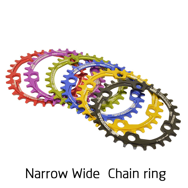 BDSNAIL 30T 32T 34T 36T 96BCD Aluminum Alloy Chainring Chainwheel MTB Bike Road Bicycle Round Chain Ring for M7000 M8000 M9000