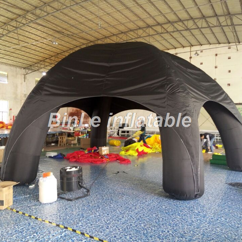 Hot sale black inflatable tent with removeable cover spider style car garage toy tent inflatable camping tent for sale