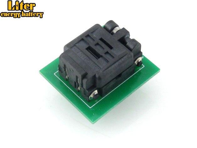 QFN8 à DIP8 adaptateur QFN8 MLF8 MLP8 Plastronics 08QN50T43020 QFN IC adaptateur de programmation Test rodage prise 0.5mm pas
