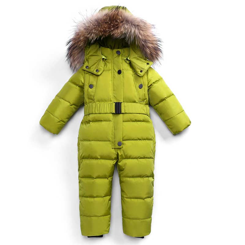 2018 winter Warm baby girl boy Snowsuit 90% white duck down baby Rompers hoodies Newborn overalls clothes kids children jumpsuit купить в Москве 2019